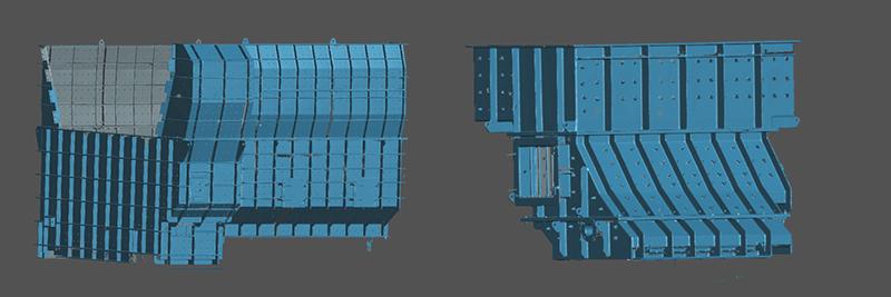中观3D扫描检测扫描大型矿山设备配件